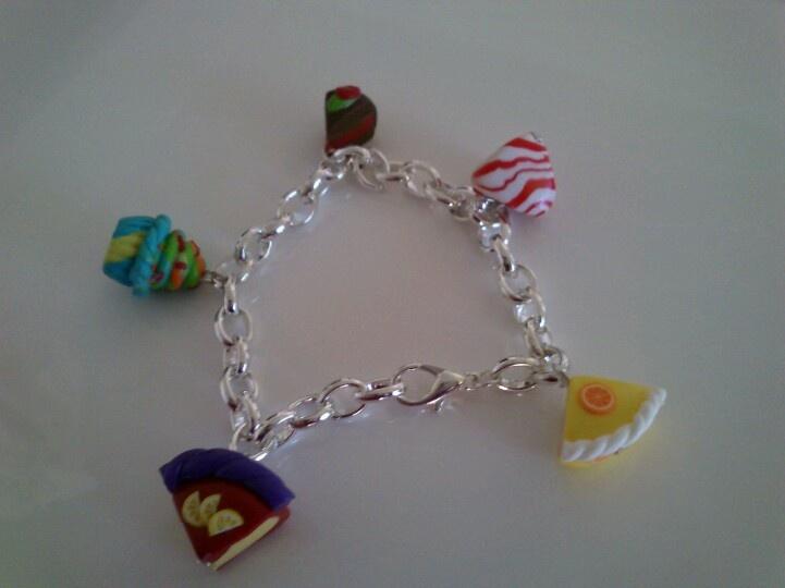 Gateau cupcakes berlingot bracelet fimo