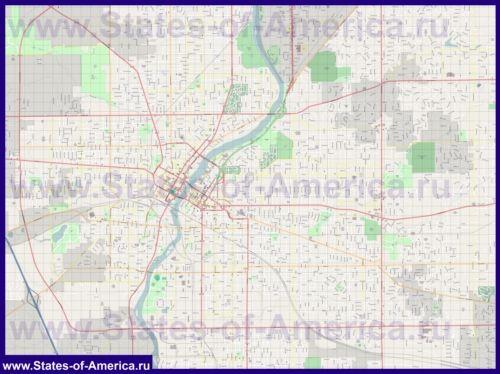 Подробная карта города Рокфорд