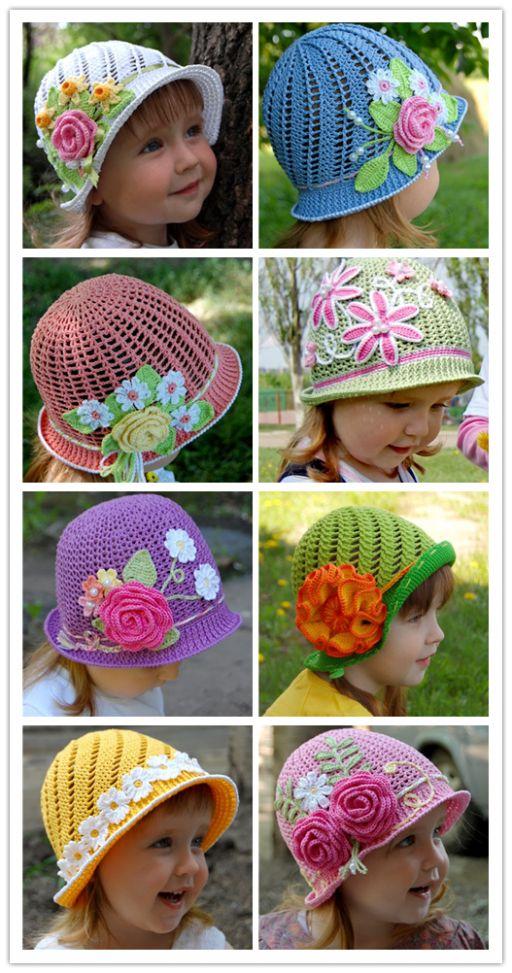 Maravilhoso DIY Verão Crochet Panamá chapéus Free Pattern 12