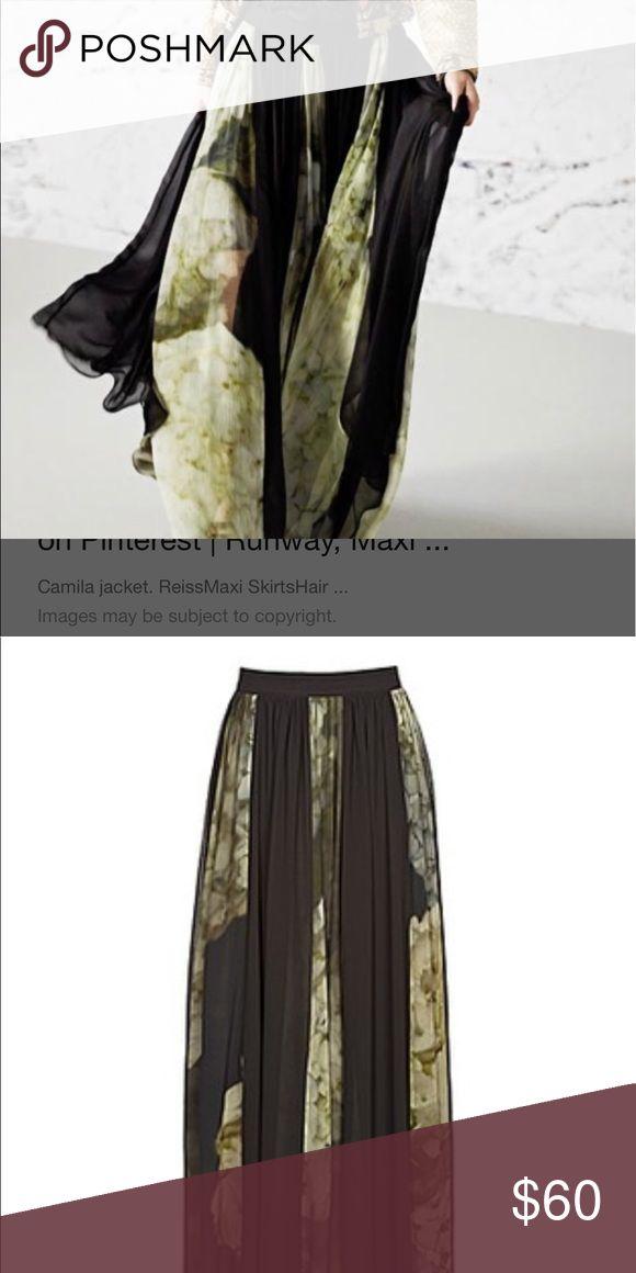 Reiss Aurelia maxi skirt Reiss printed maxi skirt, in great condition Reiss Skirts Maxi