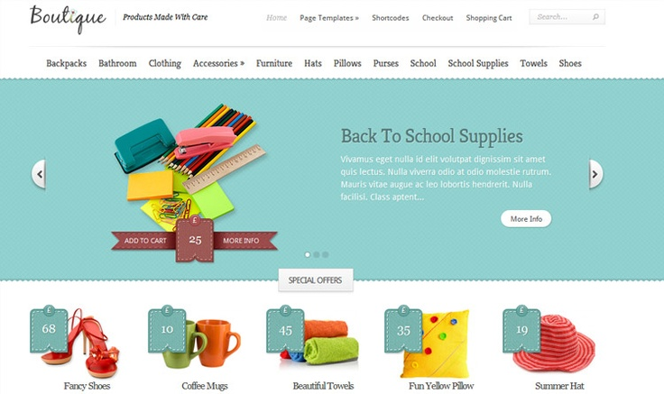 Web Development Australia - another great example for a web store.