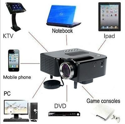 Perfect P Mini HD LED Projector Home Cinema Theater Multimedia PC USB TV AV HDMI