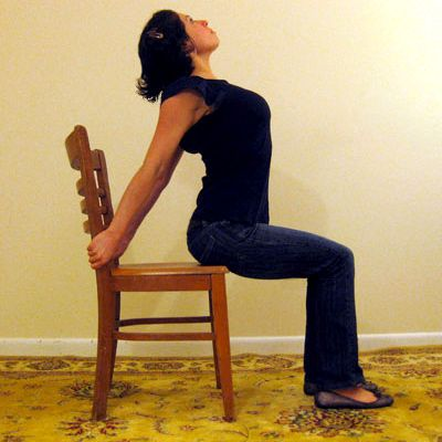4 Desk Stretches to Relieve Neck and Shoulder Tension.  No wonder after my yoga class my shoulders feel so much better.  I need to do this on a daily basis