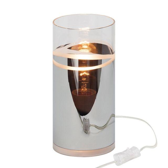 CARLOW Brilliant - stolová lampa - kov+sklo - 200mm