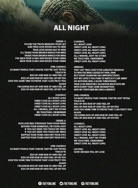 All Night Lyrics
