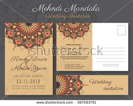 22 best wedding invitation images on pinterest rsvp vector classic vintage wedding invitation card design with beautiful mandala flower suitable for both traditional and stopboris Images