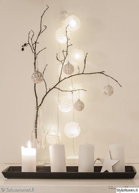 asetelma,kynttilät,jouluvalot,Tee itse - DIY