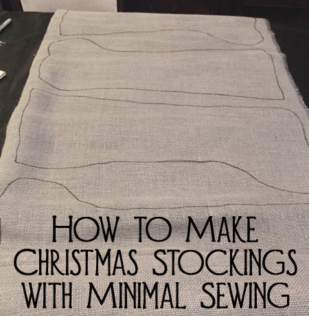 Sew your own custom Christmas stockings in the fabric of your choice. You can hand sew or use a sewing machine. These directions are so easy that anyone can do it - even kids!