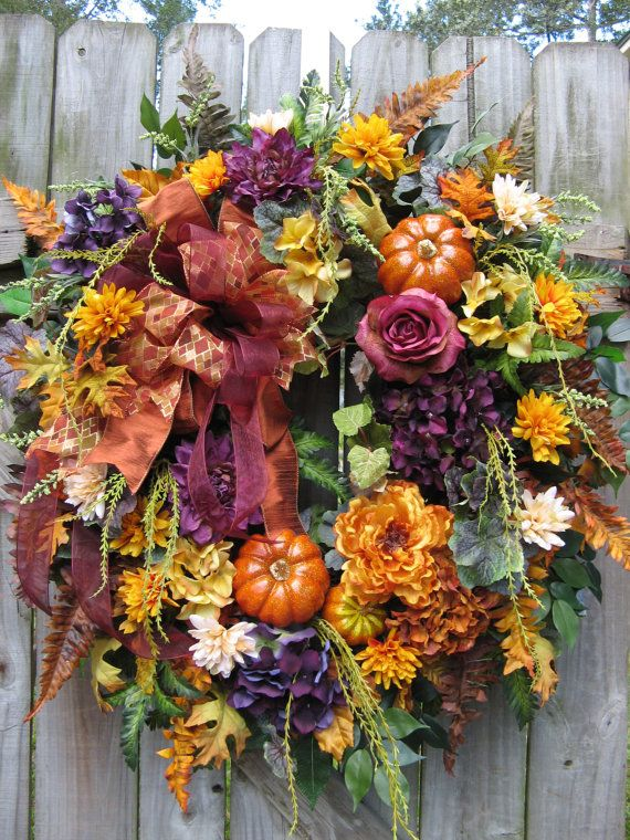 Fall Wreath Tuscan Wreath French Country Wreath By