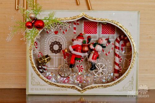 vintage christmas diorama                                                                                                                                                                                 More