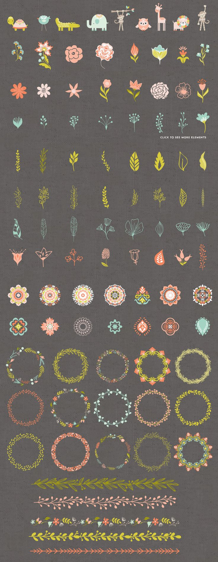 Wild and Free Vector Graphics by Cocoa Mint on @creativemarket