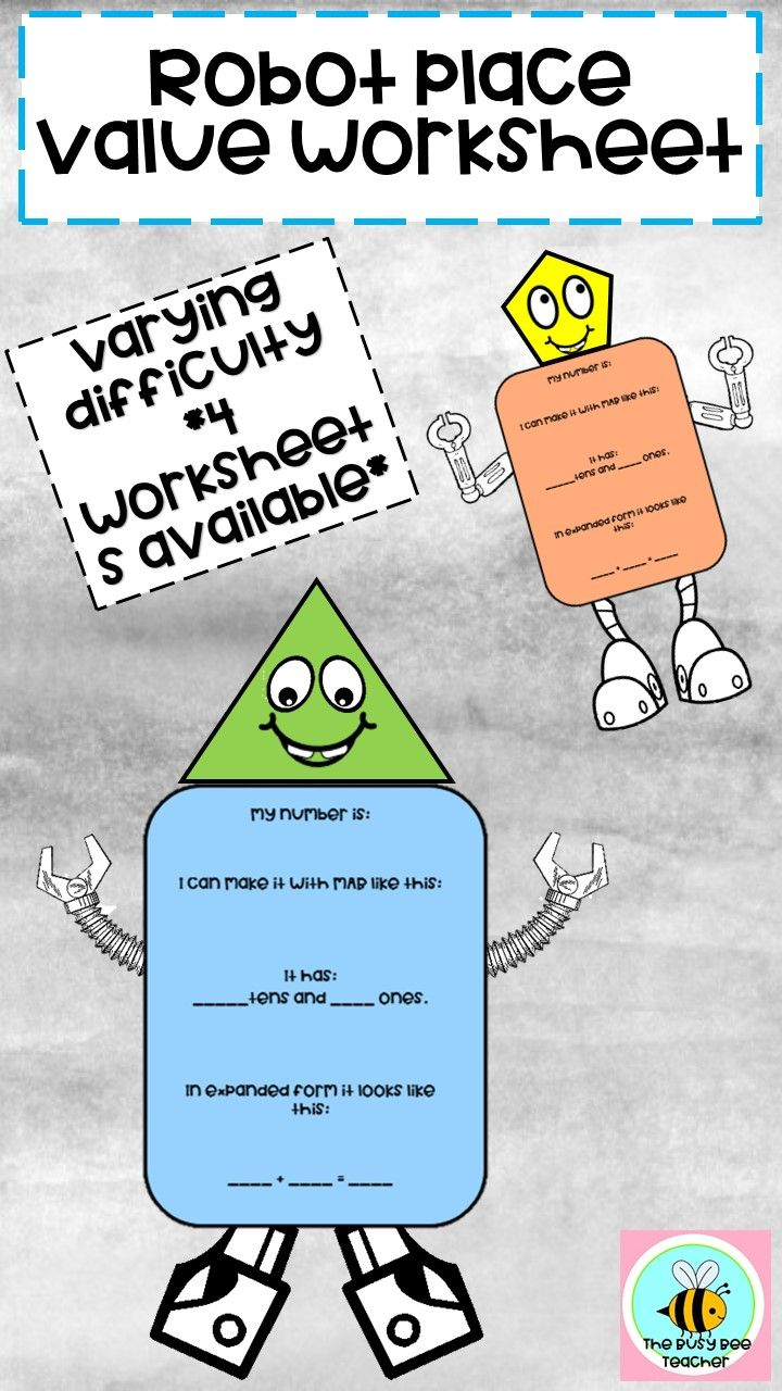 Place Value Robot Number Expander Place Values Fun Worksheets