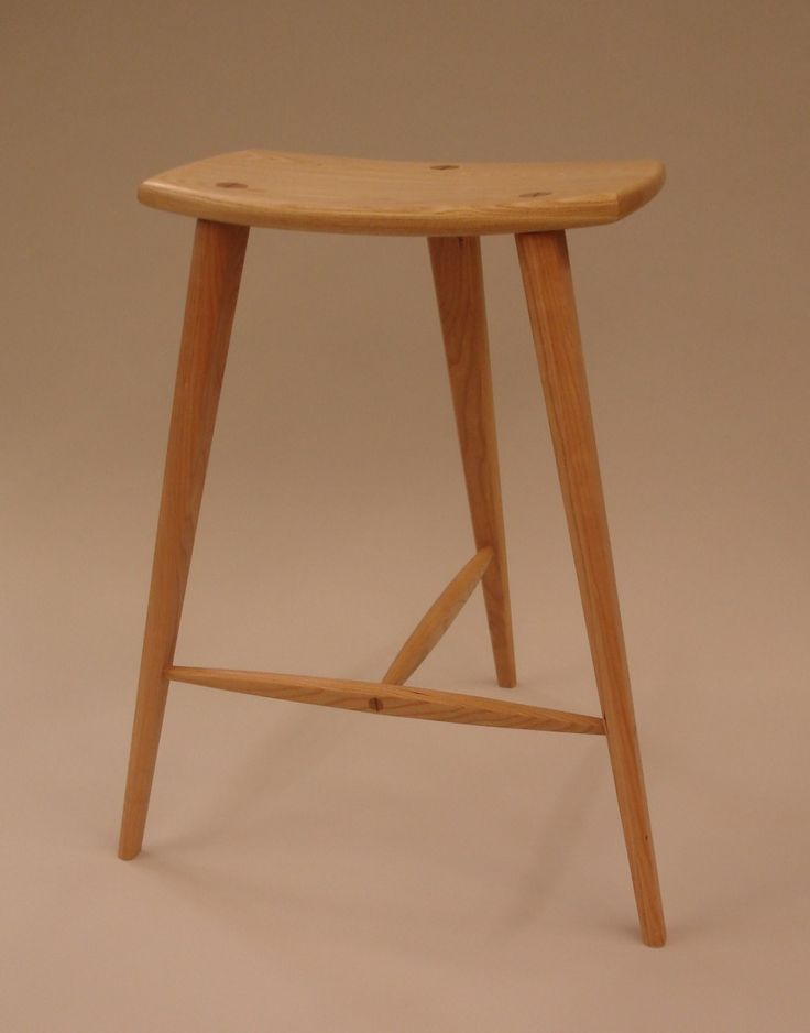Cherry and ash stool - Reader's Gallery - Fine Woodworking