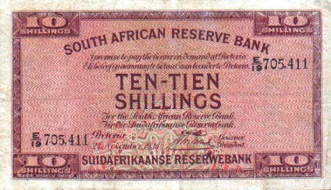 Old South African currency.
