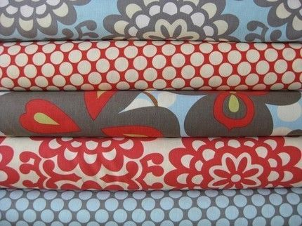 Fabric!: Colors Combos, Amy Butler Fabrics, Living Rooms, Kitchens Curtains, Red, Patterns, Butler Lotus, Cribs Beds, Fat Quarter