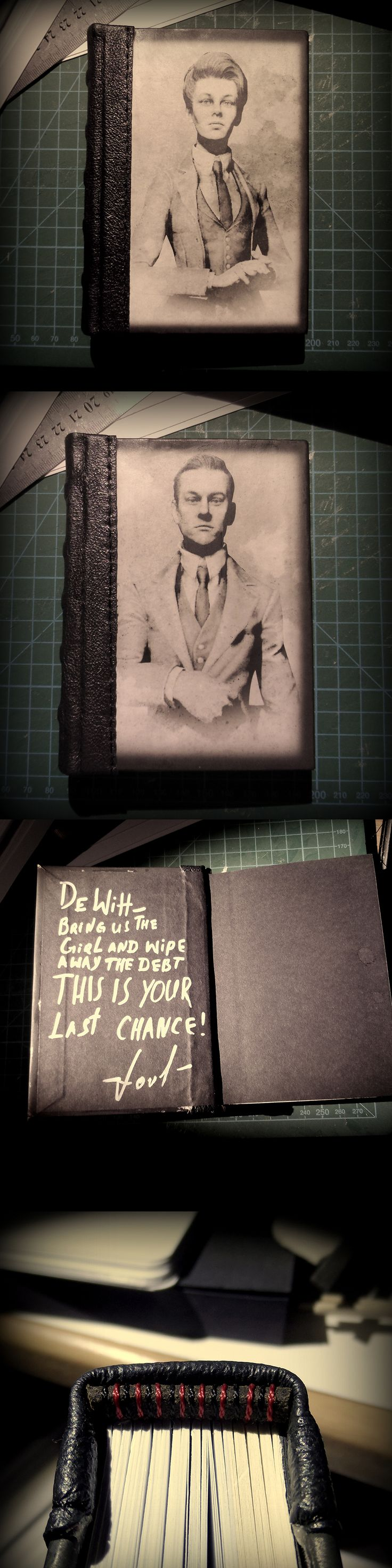 Notebook inspired by Lutece twins from Bioshock Infinite.