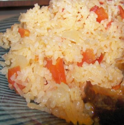 We love rice and this rice came from a friend who keeps a container of it in her fridge. She serves it with every meal.