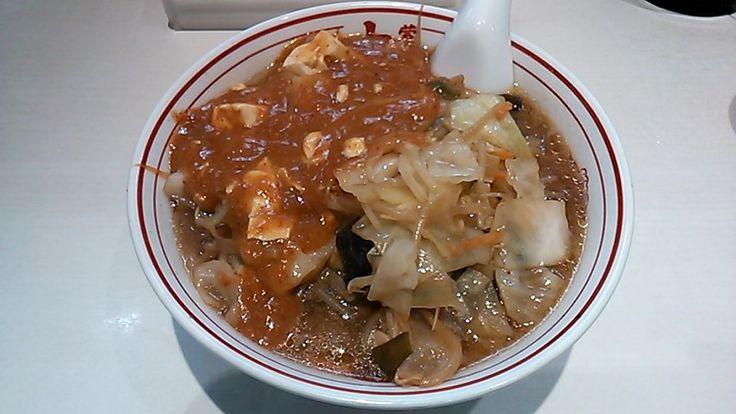 蒙古タンメン + 野菜大盛(蒙古タンメン中本 秋津店)