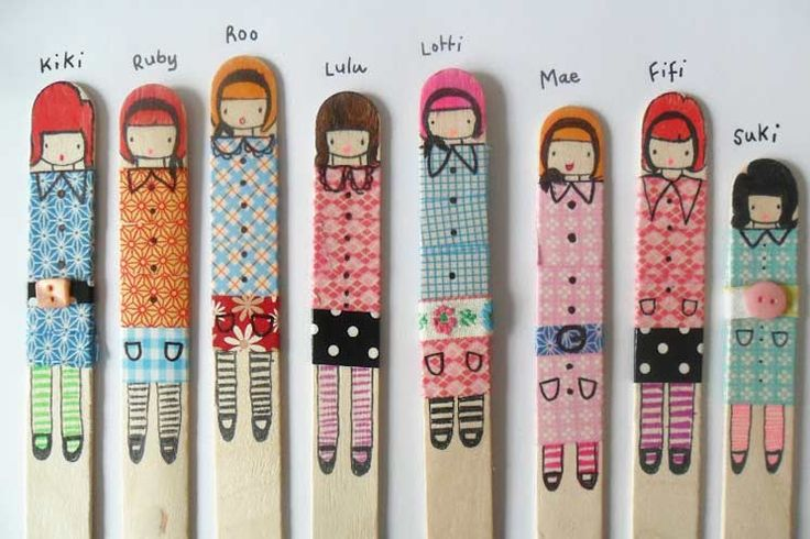 Washi tape crafts: Entertain kids of all ages making washi tape stick puppets. My girls loved doing this