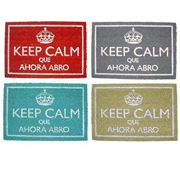 Felpudo Keep Calm Que Ahora Abro (Azul)