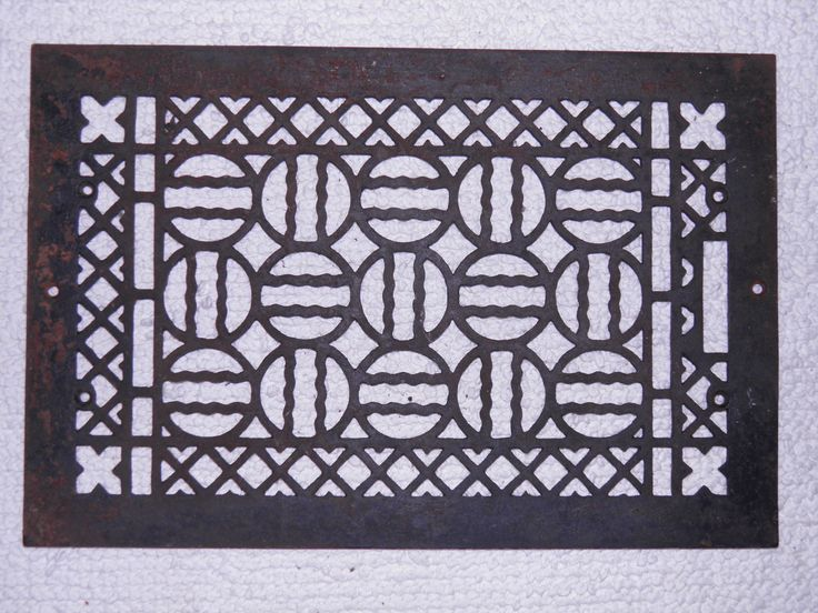 Cast Iron Floor Vent Cover / Grate for Heat