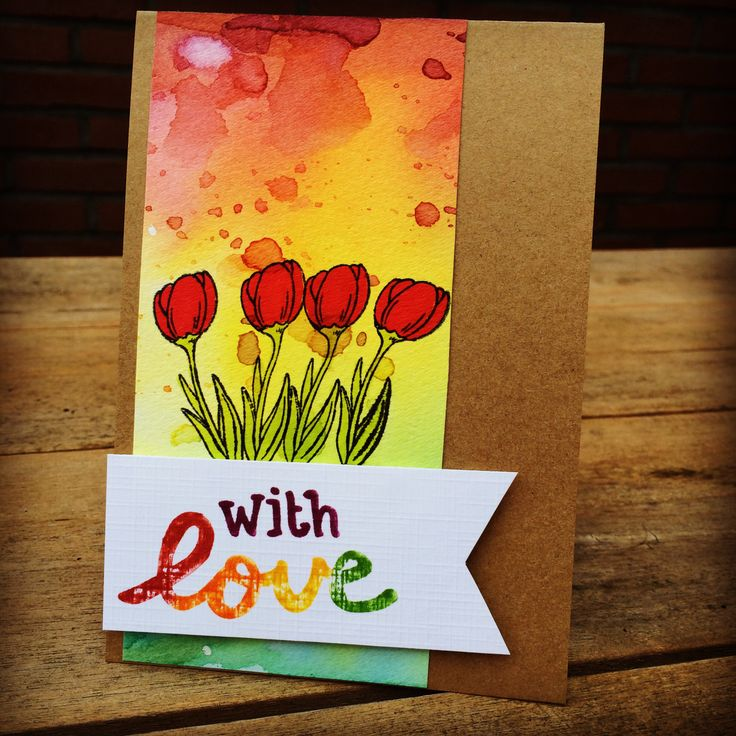 With love #card #handmade #distress #stamping  #stamp