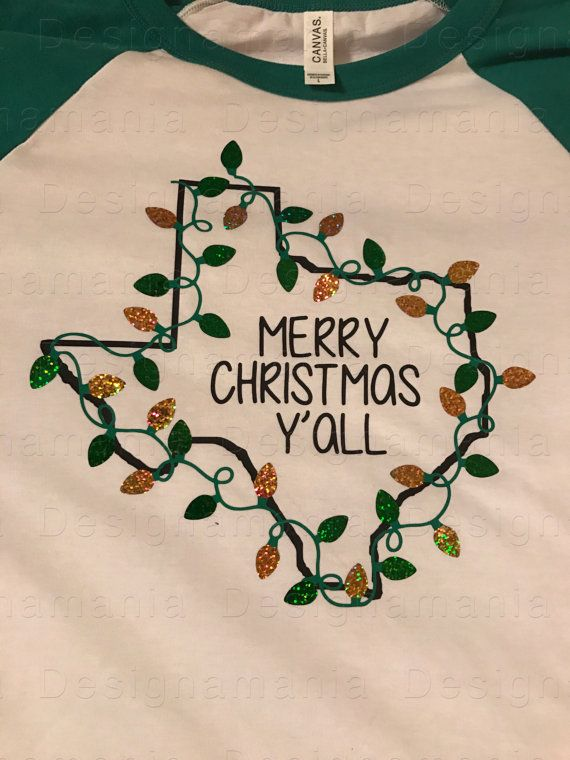 """Merry Christmas Y'all"" mens/womens raglan tee. In Baylor colors, of course! #SicEm"