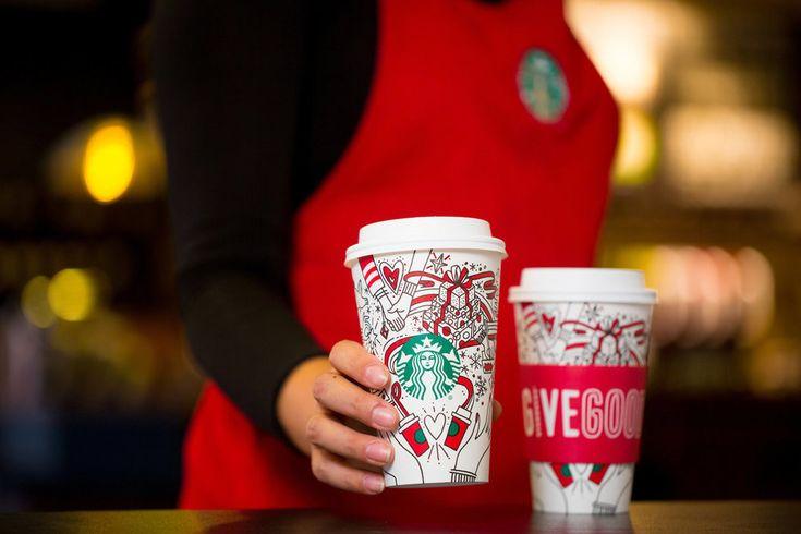 Starbucks 2017 holiday cups photographed on Monday, October 23, 2017.  (Joshua Trujillo, Starbucks)