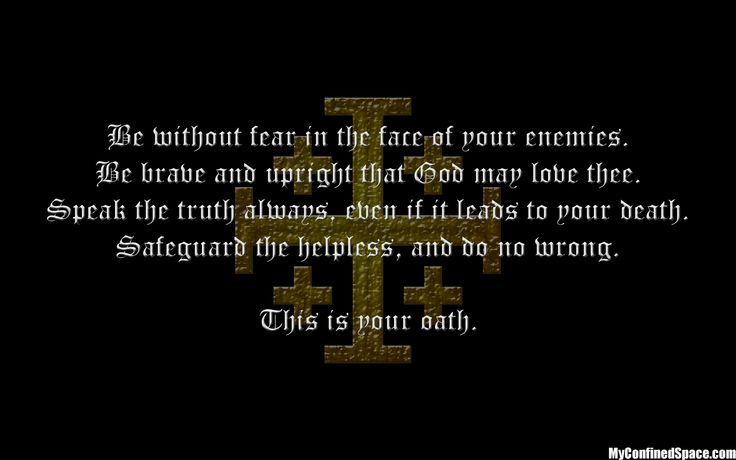 cs lewis quotes brave knights Knights oath   kingdom of heaven Stuff Pinterest