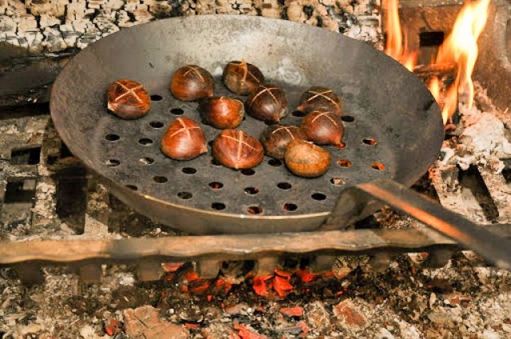 How to Roast Chestnuts. Chestnuts are big parts of our Italian tradition, we eat them roasted in these perforated pans or broiled on the stove.
