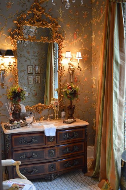 19 Best Powder Room French Country Images On Pinterest Bathroom Bathrooms And For The Home