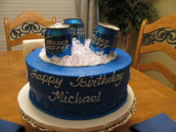 Bud Light Tres Leches Cake Mis Creaciones Pinterest Bud - Birthday cake for a guy