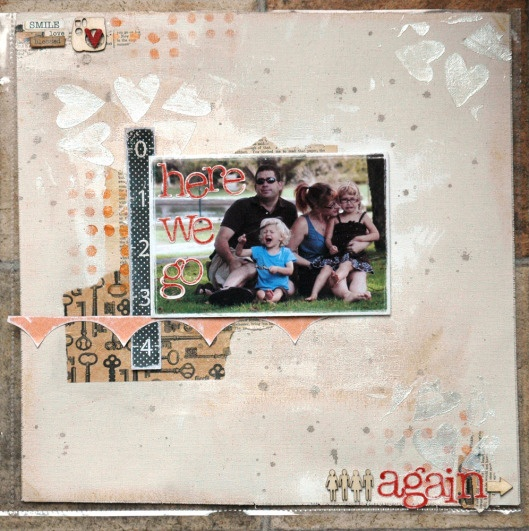 Sara's coverpage for her newest Yearlong Album class is fabulous. We hope everyone will share their layouts at the end of class tomorrow!