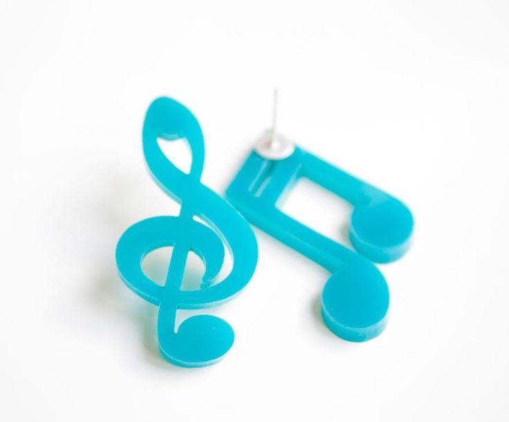 Pear Notes stud earrings