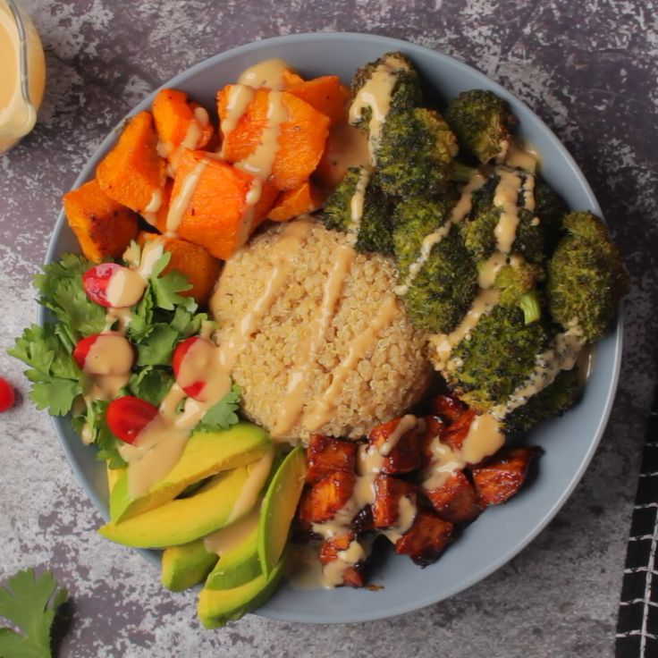 Vegan Buddha Bowl with Crispy Tofu