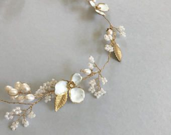Gelsomino halo nuziale | Halo di fiori | Fascia da sposa | Bianco fiore fascia