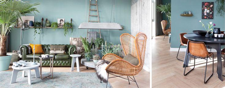 ik vind de stoel en tafel met planten erg gezellig.. zou de stoel in de hoek bij de kast neerzetten met een lekker schapenvacht erop :-)