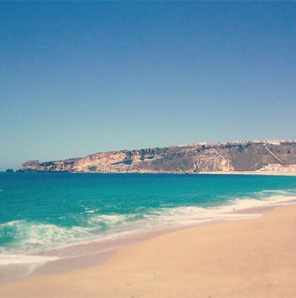 #Nazaré #beach #sky #sea #summer
