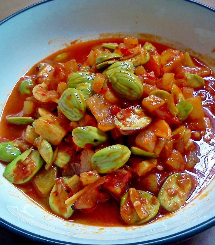 Sambal Petai #indonesian_food #Indonesian recipes #Indonesian cuisine #Asian recipes http://indostyles.com