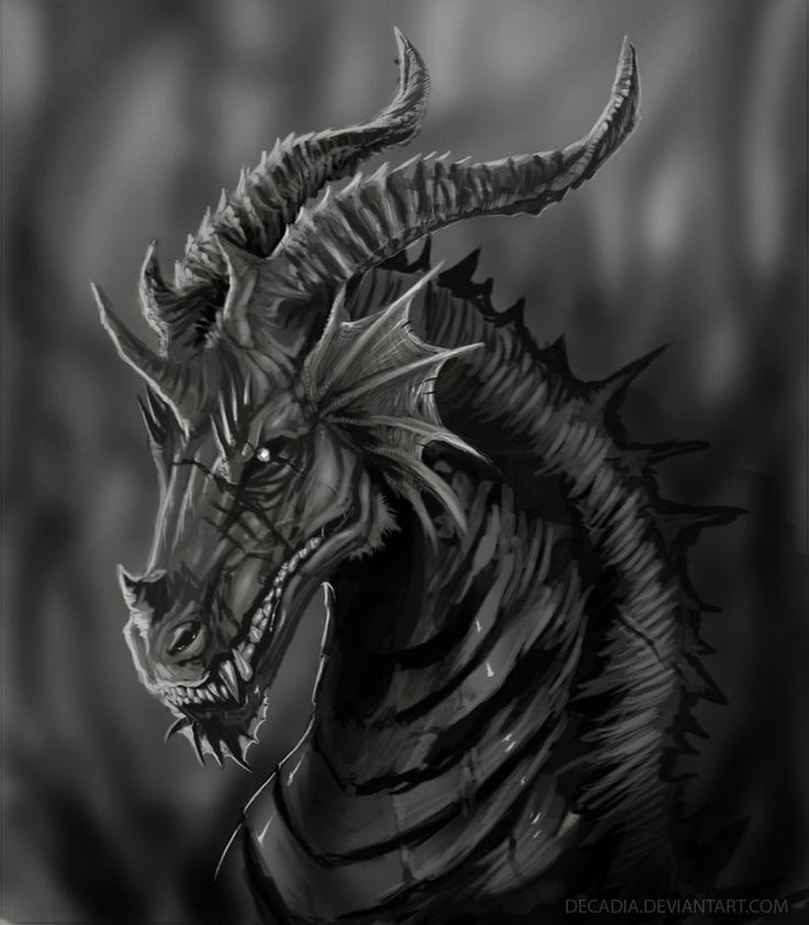 Dark Fantasy Art Dragons | Dark Dragon by ~Decadia on deviantART