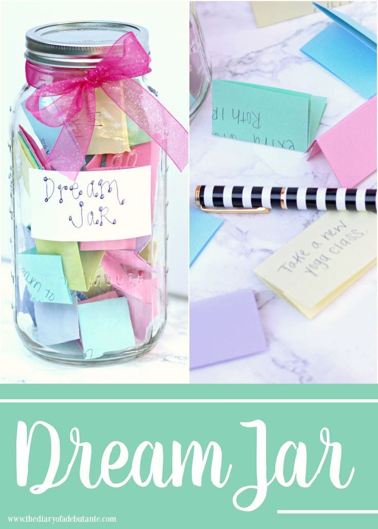 Dream Jar, Dream Jar Craft, 2016 Goals, 2016 Dream Jar, Stephanie Ziajka, Diary of a Debutante