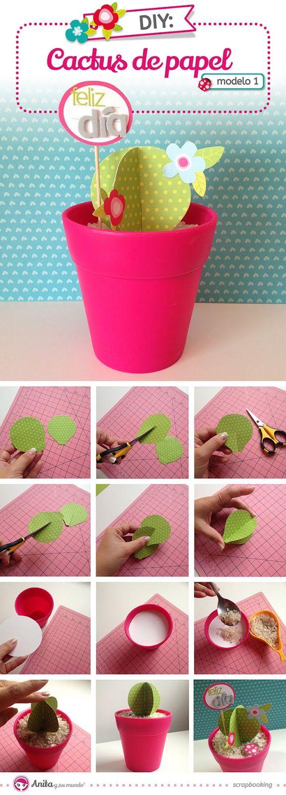 Cactus de papel - Caroli Schulz para @anitaysumundo