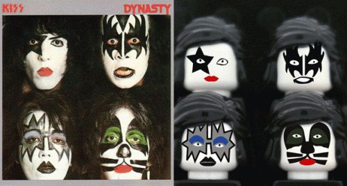 Meilleures pochettes d'albums en Lego - Kiss