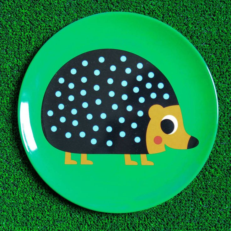 Retro Design Hedgehog Plate from Berylune