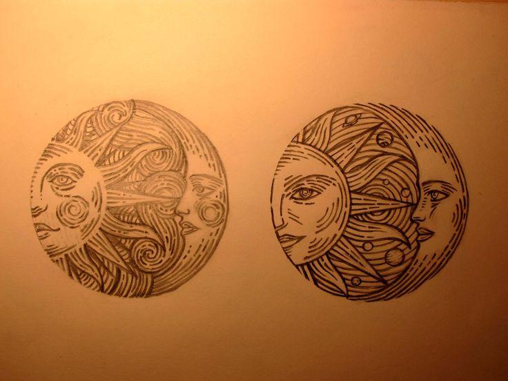 SUN & MOON #sun #moon #tattoo #circle #space #sombrerogalaxy