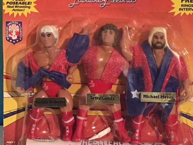 1985 REMCO TOYS AWA FABULOUS FREEBIRDS MOC WRESTLING FIGURES WWF TERRY GORDY WWE