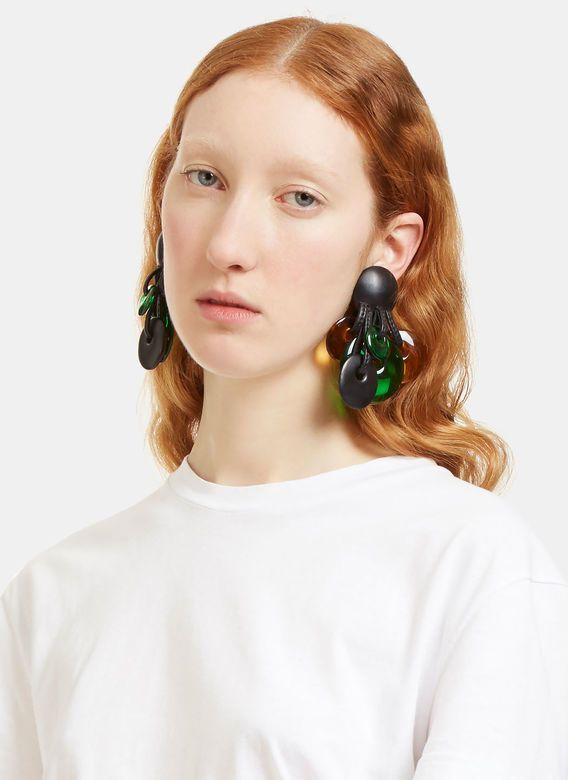 Monies Ebony Clip-On Disk Earrings | LN-CC