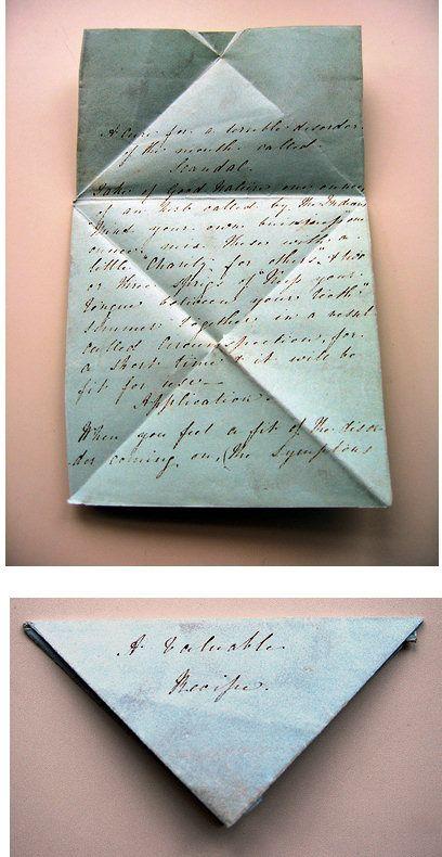 Vintage Letter Folding. #calligraphy