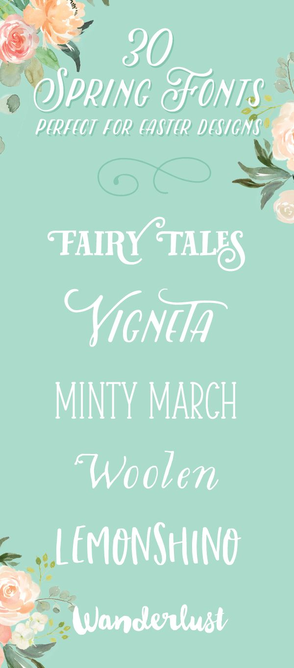 On the Creative Market Blog - 30 Spring Fonts That Are Perfect for Easter Designs