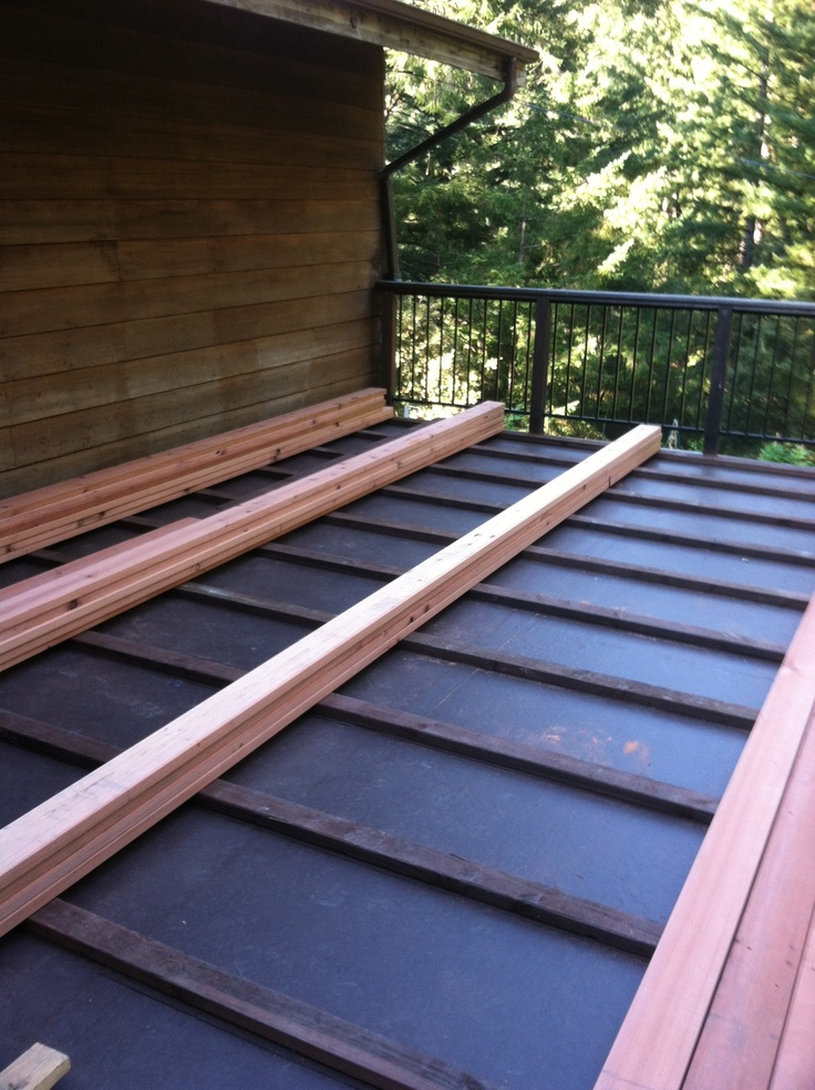 Deck Waterproofing Membrane : Ib waterproof membrane with pt sleepers and